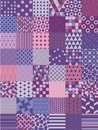 Ultra Violet Vector Seamless Pattern Set Royalty Free Stock Photo