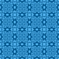 Ultramarine seamless pattern Royalty Free Stock Images