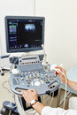 Ultrasound medical device Royalty Free Stock Photo
