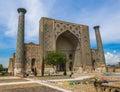 Ulugh Beg Madrasah, Registan, Samarkand, Uzbekistan Royalty Free Stock Photo