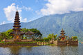 Ulun danu pura on lake beratan bali indonesia Stock Photo