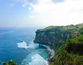 Uluwatu cliff bank Stock Image