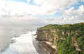 Uluwatu cliff a beautiful view scenic with pavilion and blue sea in bali indonesia Royalty Free Stock Photos