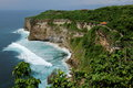 Uluwatu cliff the is a spectacular natural landscape at bali island indonesia Stock Image