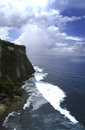 Uluwatu coast at temple bali indonesia Stock Image