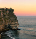 Uluwatu sunset travel bali indonesia Royalty Free Stock Photo