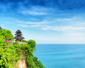 Uluwatu temple bali indonesia island Stock Photography