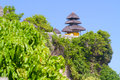 Uluwatu temple bali indonesia view of pura in island Royalty Free Stock Images