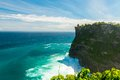 Uluwatu temple bali view of pura indonesia Royalty Free Stock Photography