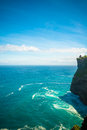 Uluwatu temple bali view of pura indonesia Royalty Free Stock Images