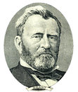 Ulysses S. Grant portrait cutout (Clipping path) Royalty Free Stock Photography
