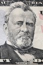 Ulysses S. Grant portrait on a twenty dollar bill. Royalty Free Stock Photo