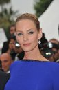 Uma thurman th festival de cannes awards gala may cannes france picture paul smith featureflash Royalty Free Stock Photography