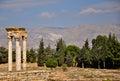 Umayyad city ruins at Anjar Royalty Free Stock Photo