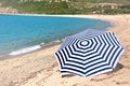 Umbrella on the beach Royalty Free Stock Photo