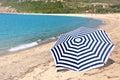 Umbrella on the beach Royalty Free Stock Photo