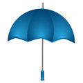 Umbrella of blue color on a white background Royalty Free Stock Photos