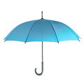Umbrella blue isolated on a white background Royalty Free Stock Image