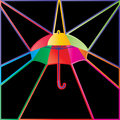 Umbrella colorful info card Royalty Free Stock Photo