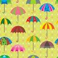 Umbrella Design Set Seamless Pattern