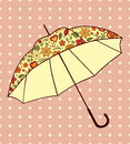 Umbrella with floral pattern Stock Photo