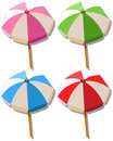 Umbrella in four colors Royalty Free Stock Photo