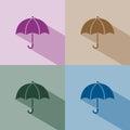 Umbrella icon with shade