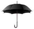 Umbrella illustration open black isolated on a white background Royalty Free Stock Photo