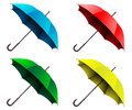Umbrella illustration open on a white background set Stock Photos