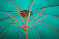 Umbrella made ​​of paper fabric arts and crafts of the village bo sang chiang mai thailand Stock Photo