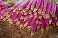 Umbrella made ​​of paper fabric arts and crafts of the village bo sang chiang mai thailand Royalty Free Stock Photography