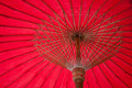 Umbrella made ​​of paper fabric arts and crafts of the village bo sang chiang mai thailand Stock Image