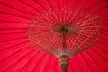 Umbrella made of paper fabric arts and crafts of the village bo sang chiang mai thailand Stock Image