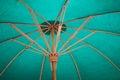 Umbrella made of paper fabric arts and crafts of the village bo sang chiang mai thailand Stock Photo