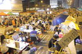 Umbrella movement in hong kong the occupy central start on sep announced the beginning of occupy central at the central government Royalty Free Stock Photos