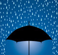 Umbrella protection from rain Royalty Free Stock Photo