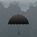 Umbrella in the Rain Royalty Free Stock Photo
