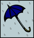Umbrella in the rain with drops. Vector available Stock Images