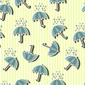 Umbrella seamless pattern on the background with stipes Stock Image