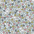 Umbrella seamless pattern vector doodle illustration Stock Photography