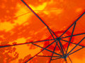Umbrella for sun protection orange Royalty Free Stock Image