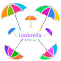 Umbrella vector set of colorful funny sceth Royalty Free Stock Photo