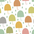 Umbrellas seamless background and water drops Royalty Free Stock Photo