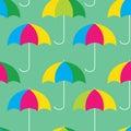 Umbrellas seamless pattern Royalty Free Stock Photo