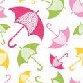 Umbrellas vector seamless.