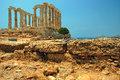 Umhang Sounion Lizenzfreies Stockbild