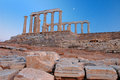 Umhang Sounion Stockfoto