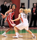 UMMC vs TEO. Women basketball Euroleague 2009-2010 Stock Images