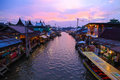The Umpawa Floating Market Stock Photography