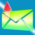 Umschlag-Symbol stellt dar, dass E-Mail Outbox Lizenzfreie Stockfotos